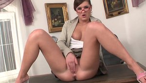 Raw handjob in company with Candy Cat and Sensual Secret