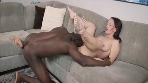 Young MILF feels up to cumshot