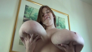 Busty BBW Lexxxi Luxe jumping on a dick