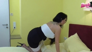 Threesome in hotel together with maid Tina Hot