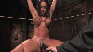 Bondage together with big tits babe Charley Chase