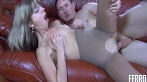 Hot and small tits Gina Gerson in pantyhose pussy fuck