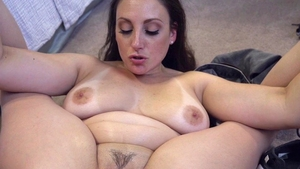 Raw hard pounding along with long hair brunette