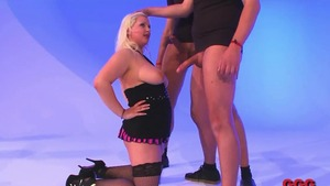 Shaved german chick goes in for plowing hard in HD