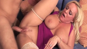 Young and busty Alexis Golden cum on face
