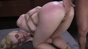 Girl rough tied up