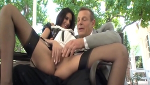 Small tits Nikki Daniels roleplay outdoors