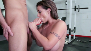 Eva Notty in company with brunette Bill Bailey yoga