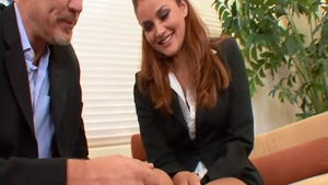 Erotic and young Allie Haze moaning