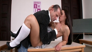 Athina Love getting a facial