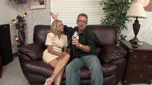 Blonde Payton Leigh gets a good fucking during interview