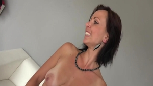Cowgirl sex at the casting tanned czech