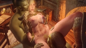 Busty & big boobs rough fucked in the ass 3d