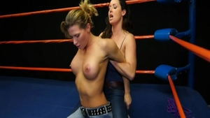 Ariel X along with Christina Carter in jeans threesome