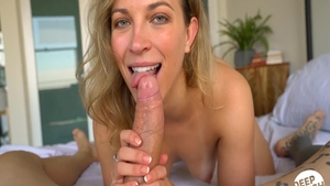 Blonde Lily Love cock sucking