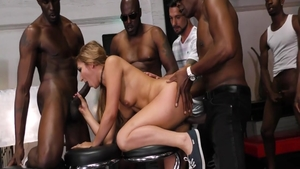 Moka Mora together with blonde Sean Michaels orgy