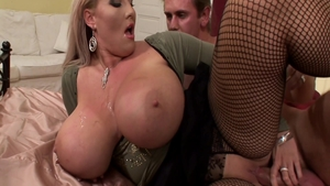 Laura Orsolya in fishnet hard finds dick to fuck