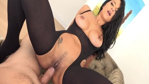 Plowing hard escorted by busty latina Abby Lee Brazil