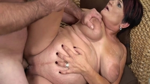 Cumshot in company with passionate neighbor Dolly Bee