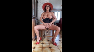 Upskirt pussy fucking along with french MILF