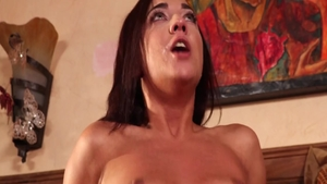 Horny Amara Romani pussy eating in shower