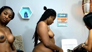 Squirt thick ebony in HD