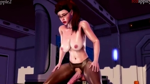 Real sex accompanied by big tits asian