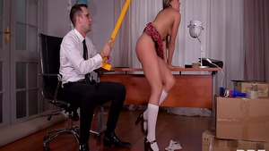 Spanking in company with young schoolgirl Blue Angel