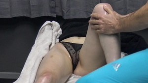 Shaved amateur hidden cam fitness in the bed