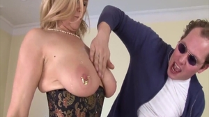 Busty blonde has a taste for hard sex