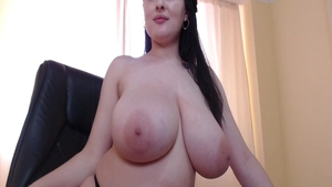 Charming babe riding a dick solo