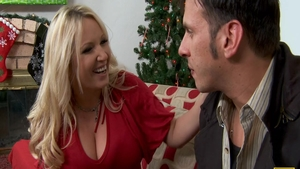 Busty and big tits blonde cock sucking