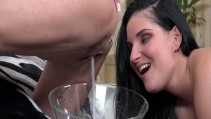 Hard pounding next to young teen Lucia Denvile