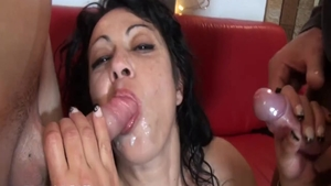 Sex scene in company with big ass stepmom