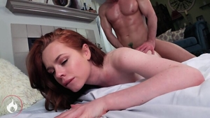Hard sex in the company of redhead