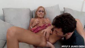 Hard sex scene along with sexy stepmom