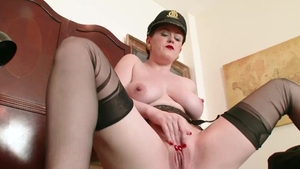 Solo very kinky and stiff female fetish masturbating