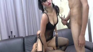 Passionate french chick interracial fucking at castings in HD