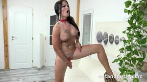 Solo huge boobs Isabel Dark MILF playing with toys