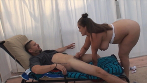 Handjob outdoors pregnant american Katie Cummings
