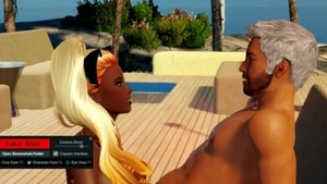 Sucking cock at the beach big boobs french in HD