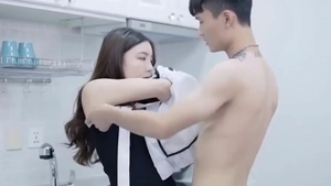 Hard pounding together with cute korean girl