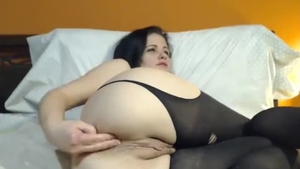 Solo huge tits in sexy stockings babe pussy eating