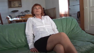 Hairy stepmom in tight stockings raw bends over