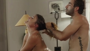 Shaved Aspen Reign and Jake Adams raw blowjob cum