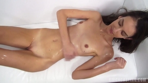 Petite czech oil rides a hard dick