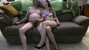Young brunette masturbating in HD