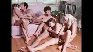 Group sex accompanied by hairy
