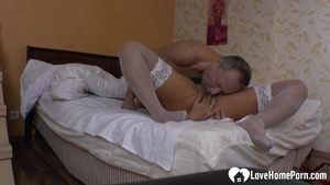 Getting a facial accompanied by hottest mature in stockings