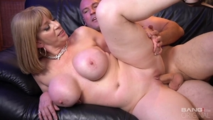 Babe Sara Jay rough pussy fuck after interview
